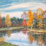 Autumn lake. 1998
