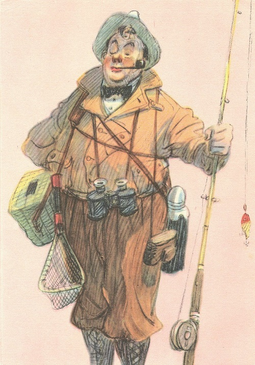 Fisherman aristocrat. 1956 (series Fishermen)