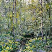 Flowering marigold. canvas, oil. 2005