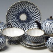 In 1958, Tea set with geometric pattern won Gold medal at the Brussels World's Fair