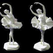 Leningrad Porcelain Plant of MV Lomonosov. Ballerina Natalia Dudinskaya in Aurora in the ballet of Tchaikovsky