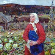 Portrait of Yevdokia Ryannel. Oil, canvas. 2006