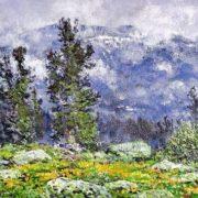 Sayan. Water lilies bloom. canvas, oil. 2005
