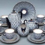 Symbolic geometric pattern of famous Soviet porcelain