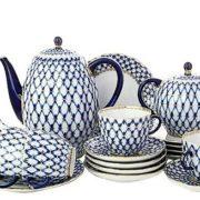 The most famous pattern of the Leningrad porcelain - Cobalt net