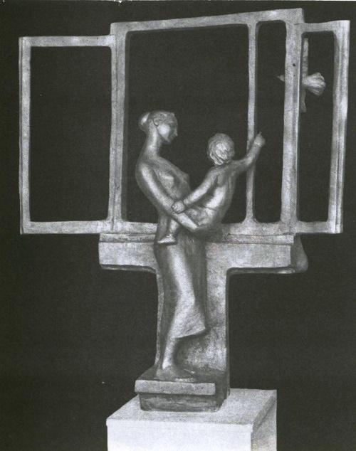 Soviet sculptor Vyacheslav Malyshkin. Window. Bronze. 1984