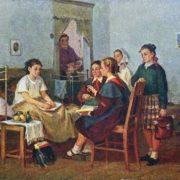 Visiting sick girlfriend, 1955