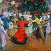 Yuri Kalabukhov. New Year's day party