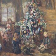 Pavel Radimov 'At New Year tree'. 1943