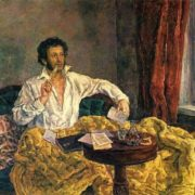 AS Pushkin in Mikhailovskoye. Oil. 1932