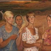 Agronomists. 1977 (from the series People of the collective farm Yangorchino)