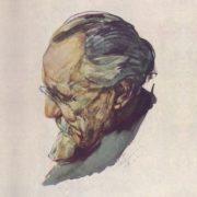 Art teacher, V. E. Savinsky, portrait. 1937