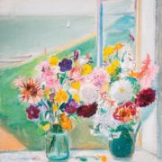 Autumn flowers on the window. 1968