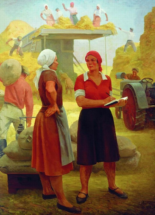 Collective farm woman - team leader. 1932