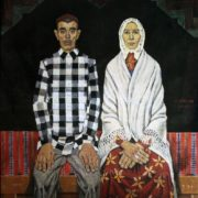 Family of collective farmer Radzhap. 1974 (triptych center)