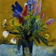 Flowers in glass. Oil on canvas. 1934. Kiev art museum