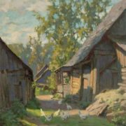In the village. 1956