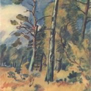 Landscape. 1934. Watercolor