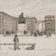 Dobroliubov Monument on Moskovsky Prospect, 1958