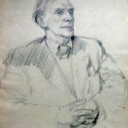 Man's portrait. Pencil on paper