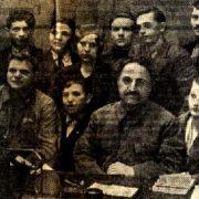 Newspaper article. Sergo Ordzhonikidze and Dusya Vinogradova in the center