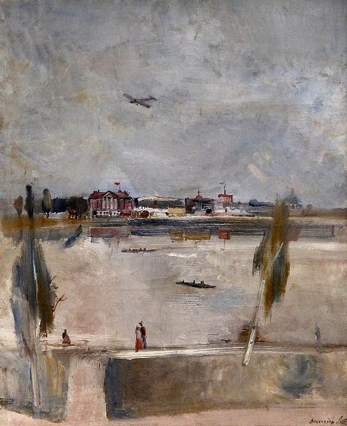 On the Moskva river. 1932. The State Tretyakov gallery