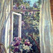 Opened window, lilac