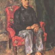 Portrait of the artist's son. Oil. 1921