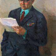 Poet, veteran S. Dzhusuev, portrait 1971