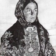 Portrait of Bashkir woman in national costume. 1969