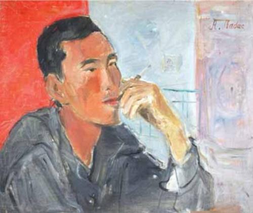 Portrait. Far East. 1936 Oil on canvas
