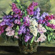Still life. Lilacs in a basket (heroic). 1933