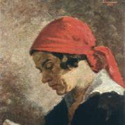 Reading a book. 1927