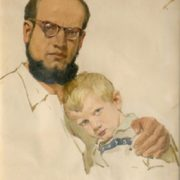 Self-portrait with son