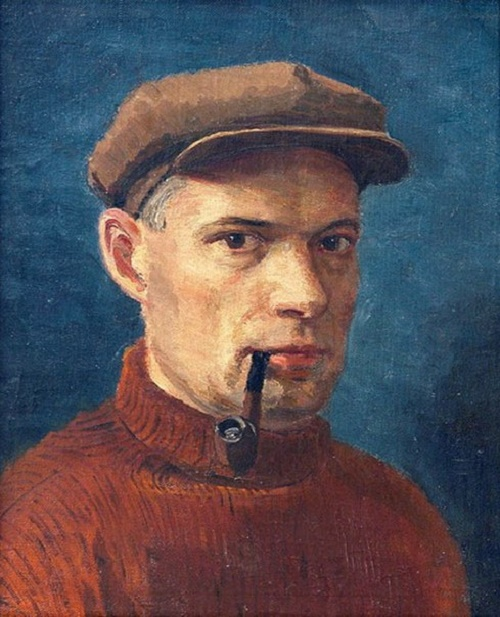 Self-portrait. Soviet portrait painter Georgy Ryazhsky 1895-1952