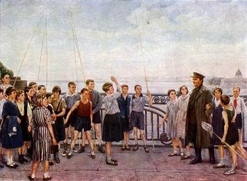 Sergey Kirov among pioneers in Leningrad
