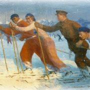 Sergey Kirov skiing. 1937