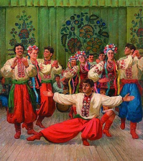 Ukraine dance. Oil, canvas. 1986