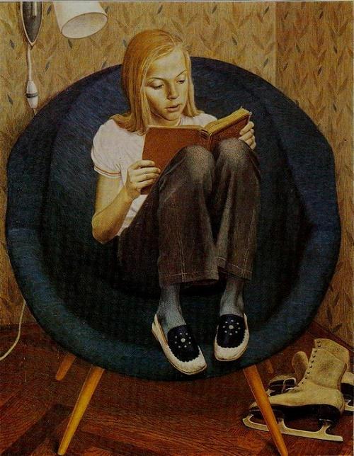 Mila. Tempera. 1974. Soviet portrait painter Valery Habarov
