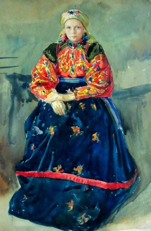 Soviet painter Mikhail Platunov (February 22, 1887 - June 18, 1972)