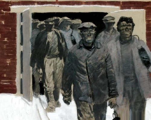 After shift. 1959 (from the series of Donbass miners)