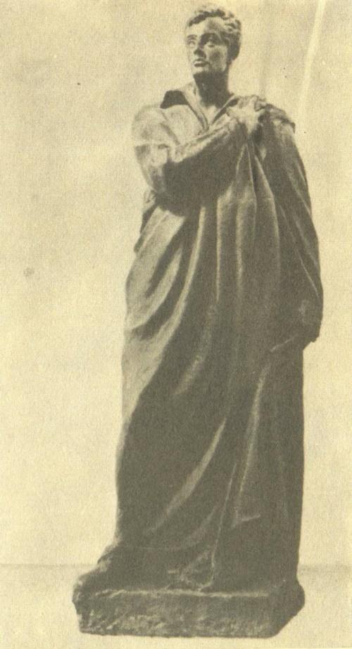 B. Domogatsky. Model of G. Byron monument. 1923. Gypsum