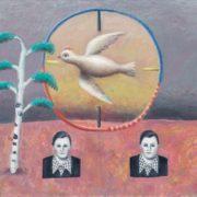 Bird in the dash. 1987. Oil on canvas