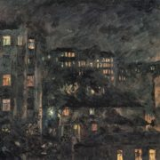 Night on Bronnaya. The Moscow landscape. 1927