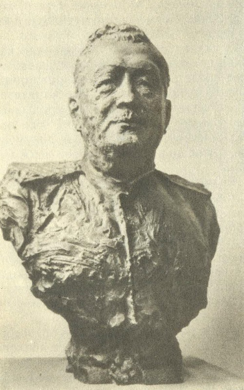 Portrait of General Ignatyev. 1943. Bronze