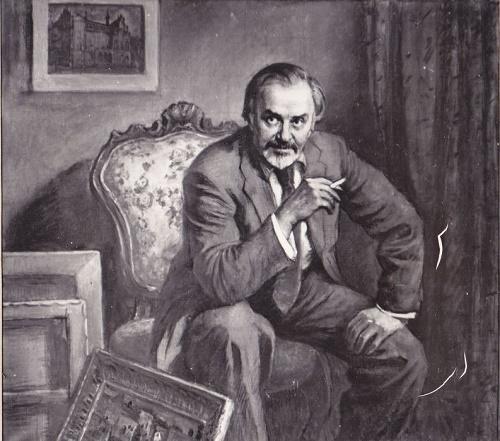 Portrait of Latvian artist Indulis Zarinsh