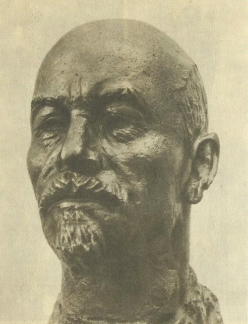 Portrait of VI Lenin. 1950-1953. Bronze