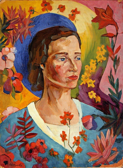 Portrait of an Unknown Woman in a Blue Dress, 1916
