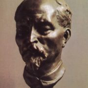 Portrait of Felix Dzerzhinsky (1877-1926). 1925. Bronze