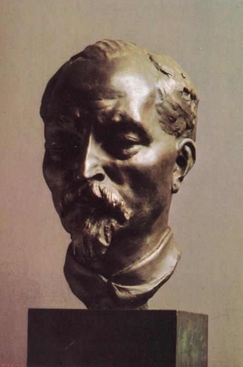 Portrait of Felix Dzerzhinsky (1877-1926). 1925. Bronze